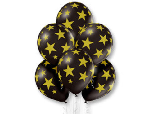 Воздушные шары черные Звезды