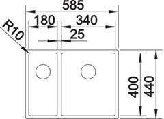 Мойка Blanco Claron 340/180-U схема