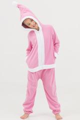 "Детская пижама-кигуруми Футужама ""Санта"" розовый"