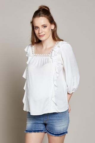 Блузка для беременных 10290 экрю