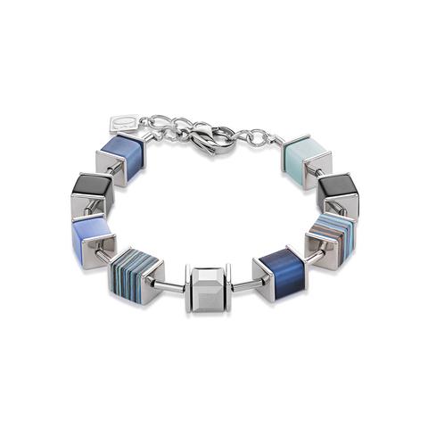 Браслет Coeur de Lion 4747/30-0700 цвет синий, серый, голубой, полосатый