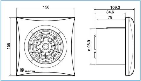 Накладной вентилятор Soler & Palau SILENT-100 CRZ IVORY (таймер)