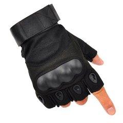 Тактические перчатки беспалые Черный