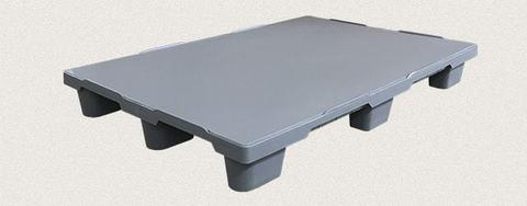 Поддон полимерный сплошной 1200x800x150 мм. Цвет: Серый