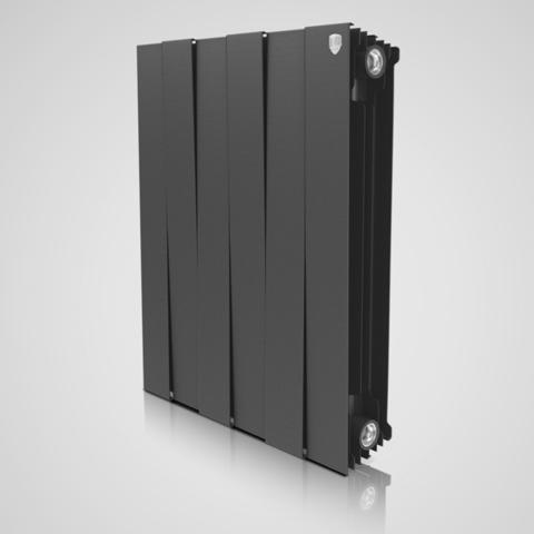 Радиатор биметаллический Royal Thermo PianoForte Noir Sable (черный)  - 10 секций