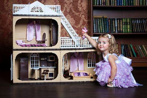 """Коттедж для кукол Barbie (Барби) """"Коллекция"""", С-1292 с мебелью"""