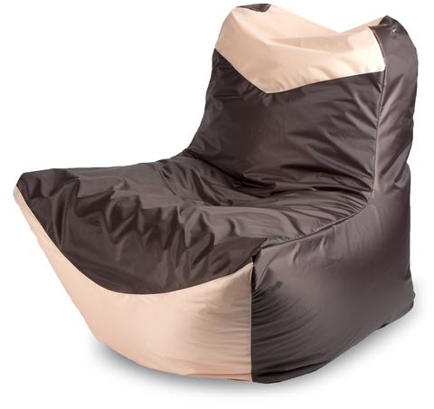 Бескаркасное кресло «Классическое», Коричнево-бежевый