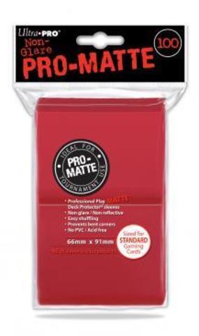 100ct Pro-Matte Red Standard Deck Protectors