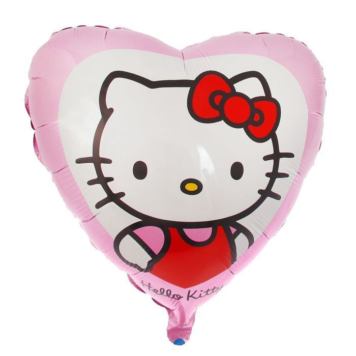 Шары Hello Kitty Шар фольга Hello Kitty в сердце розовом 4582661-1.jpg