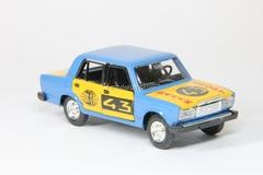 VAZ-2107 Lada Rally #43 blue-yellow Agat Mossar Tantal 1:43
