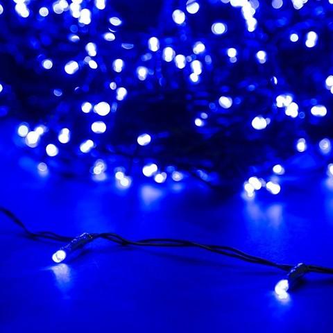 Гирлянда нить синий цвет 5 метров 50 led
