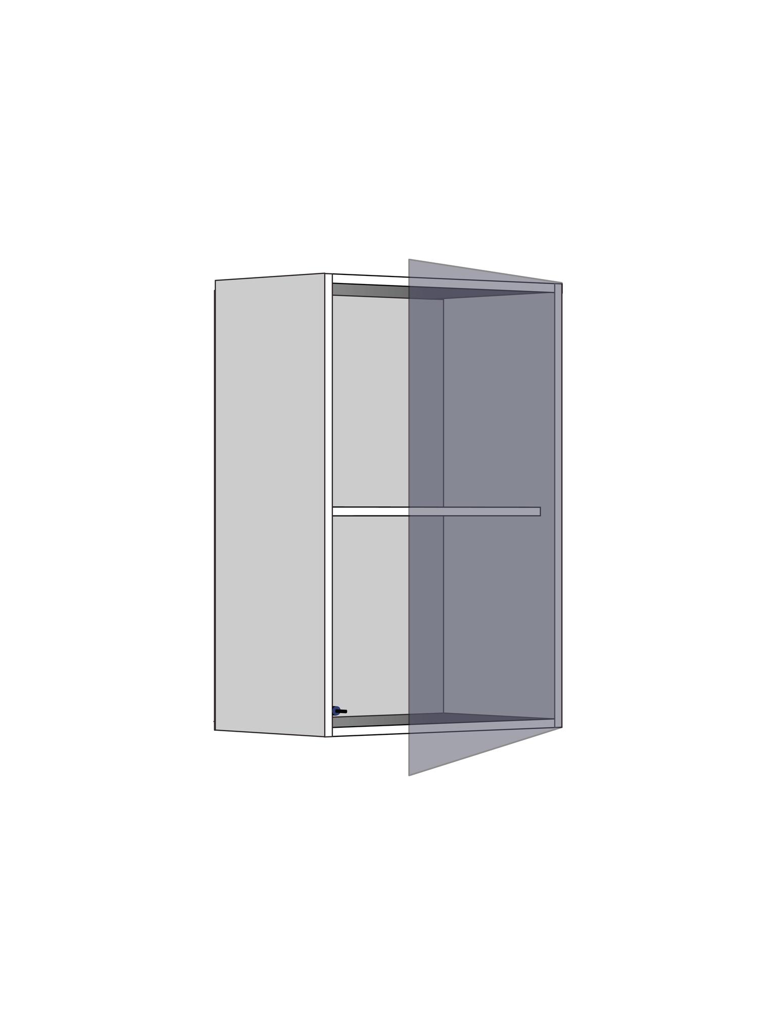 Верхний шкаф c полкой, 720Х450 мм / PushToOpen