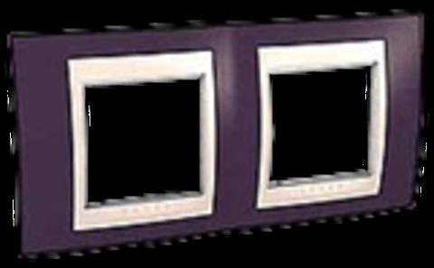 Рамка на 2 поста. Цвет Гранат/Бежевый. Schneider electric Unica Хамелеон. MGU6.004.572