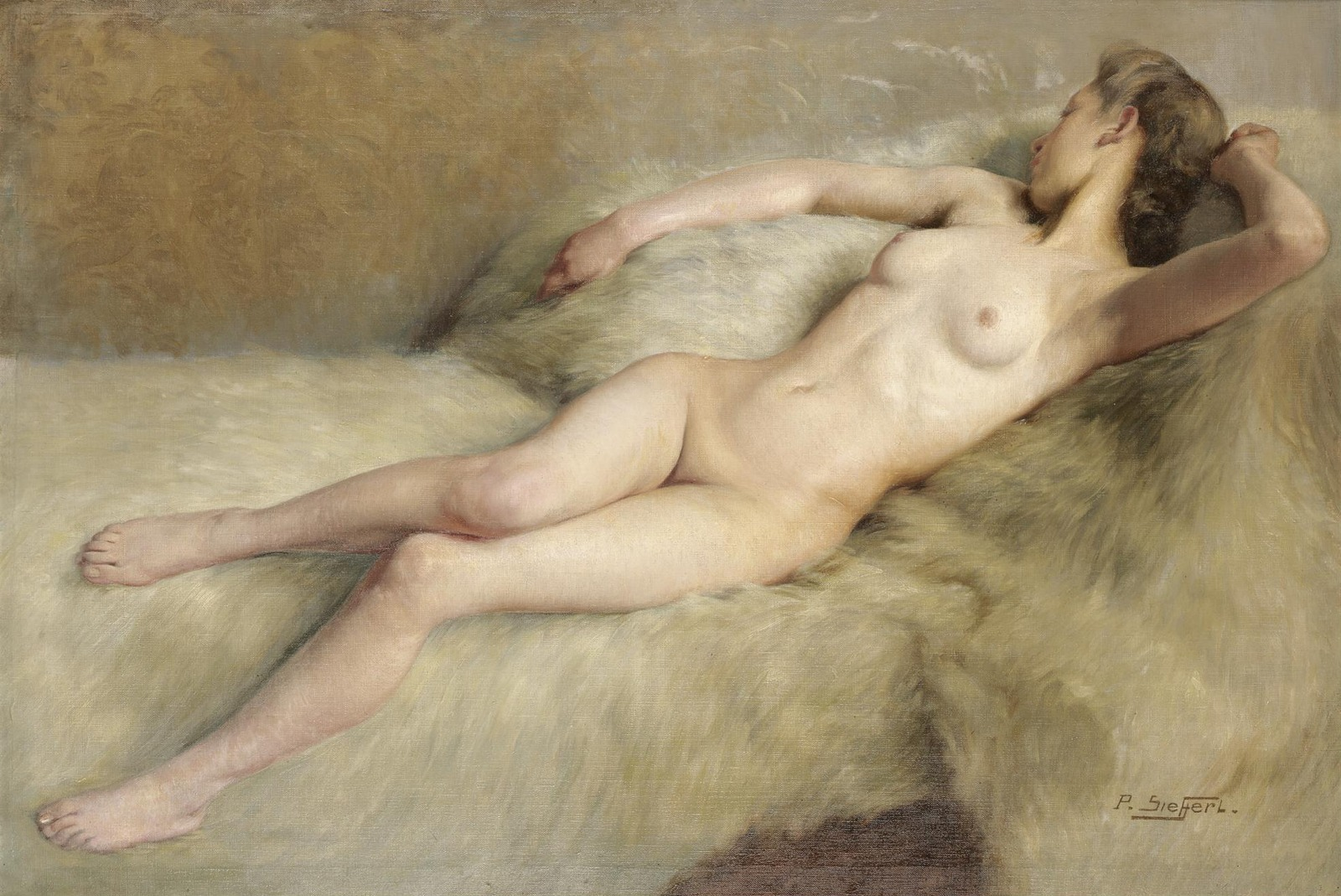 Поль Зиффер. №399. Модель (The Artist's Model). 65 х 96. Холст, масло. Частное собрание.