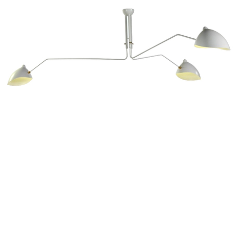 Потолочный светильник  Three Arms by Serge Mouille (белый)
