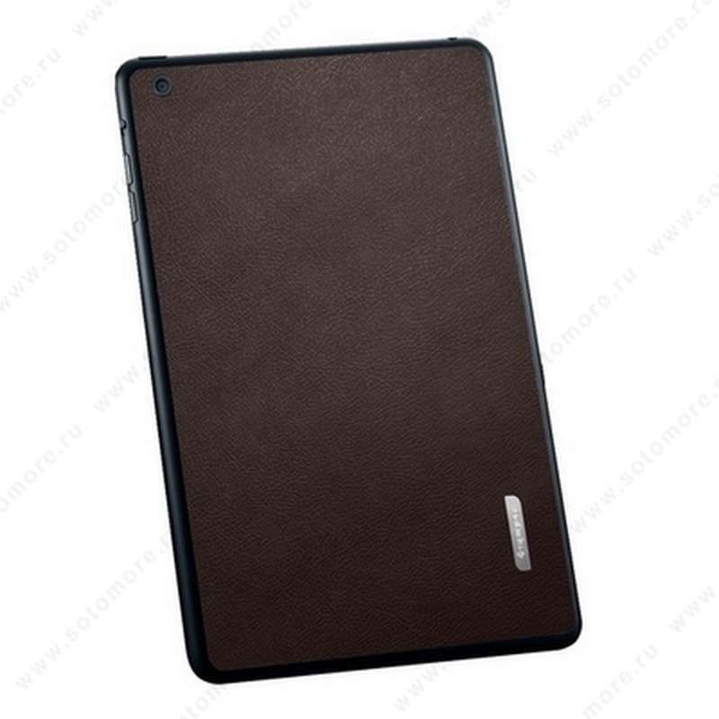 Наклейка SGP для iPad mini 3/ 2/ 1 - SGP Skin Guard Leather Brown SGP10069
