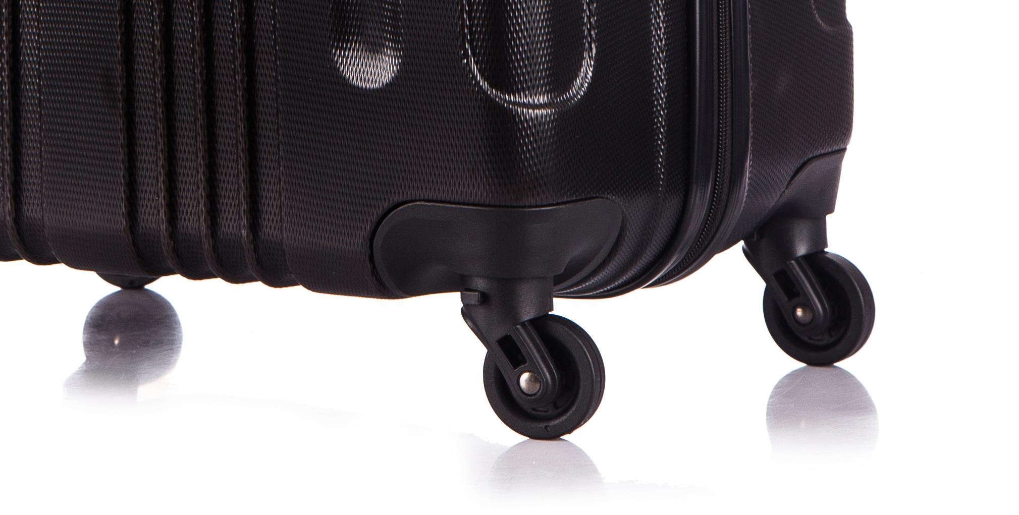 Чемодан со съемными колесами L'case Bangkok-18 Черный ручная кладь (S)