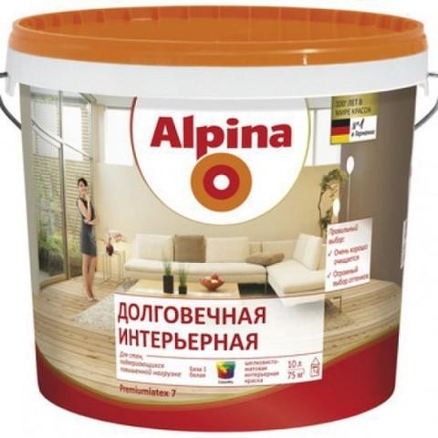 Alpina/Альпина Долговечная Интерьерная латексная интерьерная краска