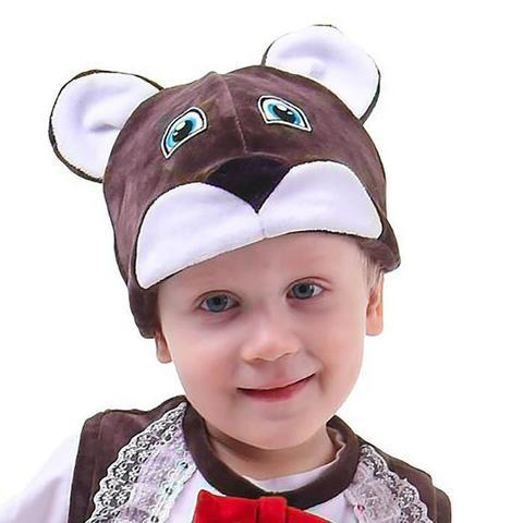 Шапка «Медведь» велюр