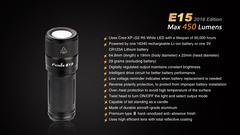 Фонарик Fenix E15 XP-G2 R5 450 лм CR123A/16340