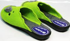 Милые тапочки для дома женские Inblu NC- 1B Mouse Light Green
