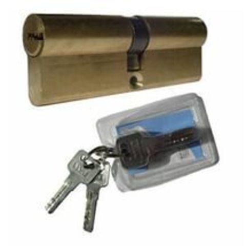 Личинка (Цилиндрический механизм) MLВ-L-100 (62х10х28 или 67*32) латунь ключ/ключ с перекодировкой