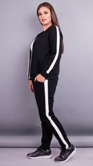 Люси. Спортивный костюм size plus . Черный.