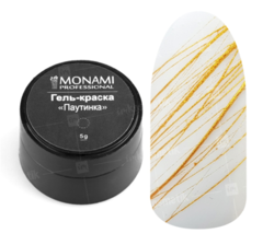 Гель-краска Monami паутинка золото 07, 5 гр
