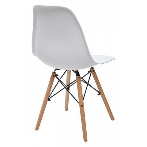 Стул NUDE Белый / ножки дерево / сиденье пластик