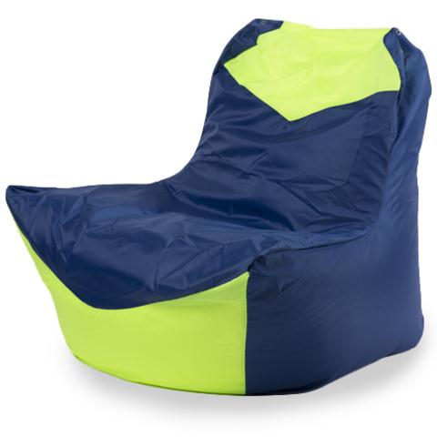 Бескаркасное кресло «Классическое», Синий и лайм