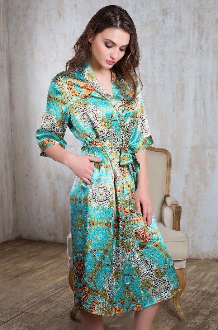 Шелковые халаты Халат женский натуральный шелк MIA-MIA   Adriana АДРИАНА 15109 15109_big.jpg