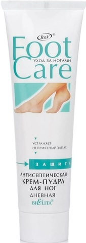 Белита Foot Care Антисептическая крем-пудра для ног 100мл