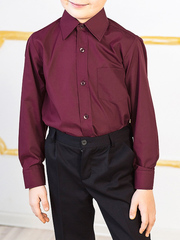 TH23 рубашка для мальчиков, бордовая
