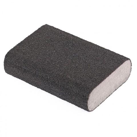 Губка для шлифования, 100 х 70 х 25 мм, овал, твердая, P 100 Matrix