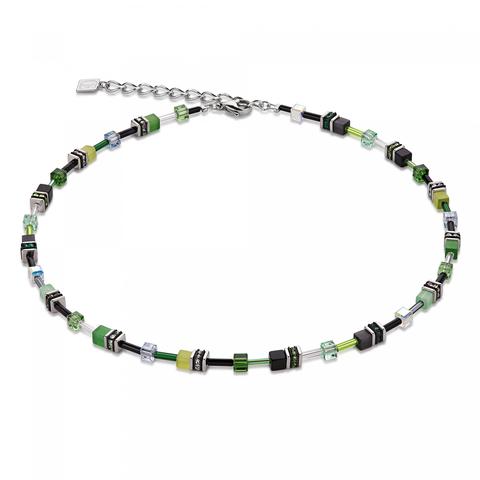 Колье Coeur de Lion 4838/10-0500 цвет зелёный, чёрный, серый