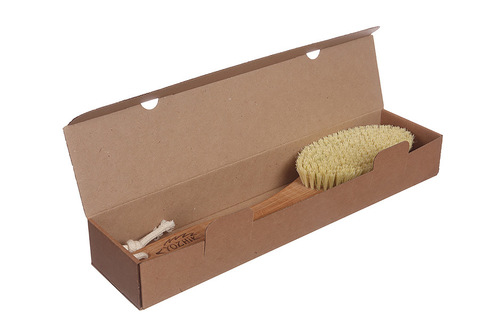 YOZHIK Щётка для сухого массажа (класс XL, натуральное волокно тампико)_коробка