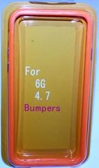 Бампер силиконовый для iPhone 6 ОРАНЖЕВЫЙ