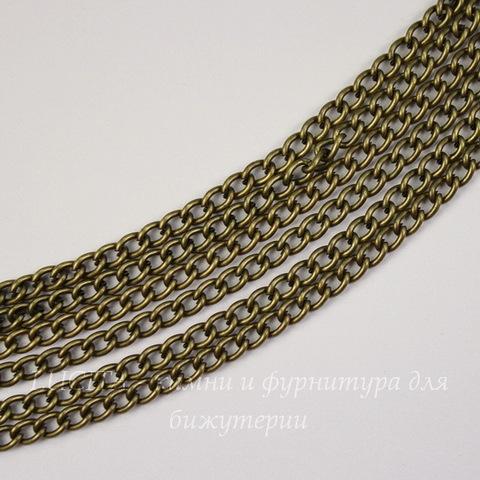 Цепь (цвет - античная бронза) 5х3 мм, примерно 2 м