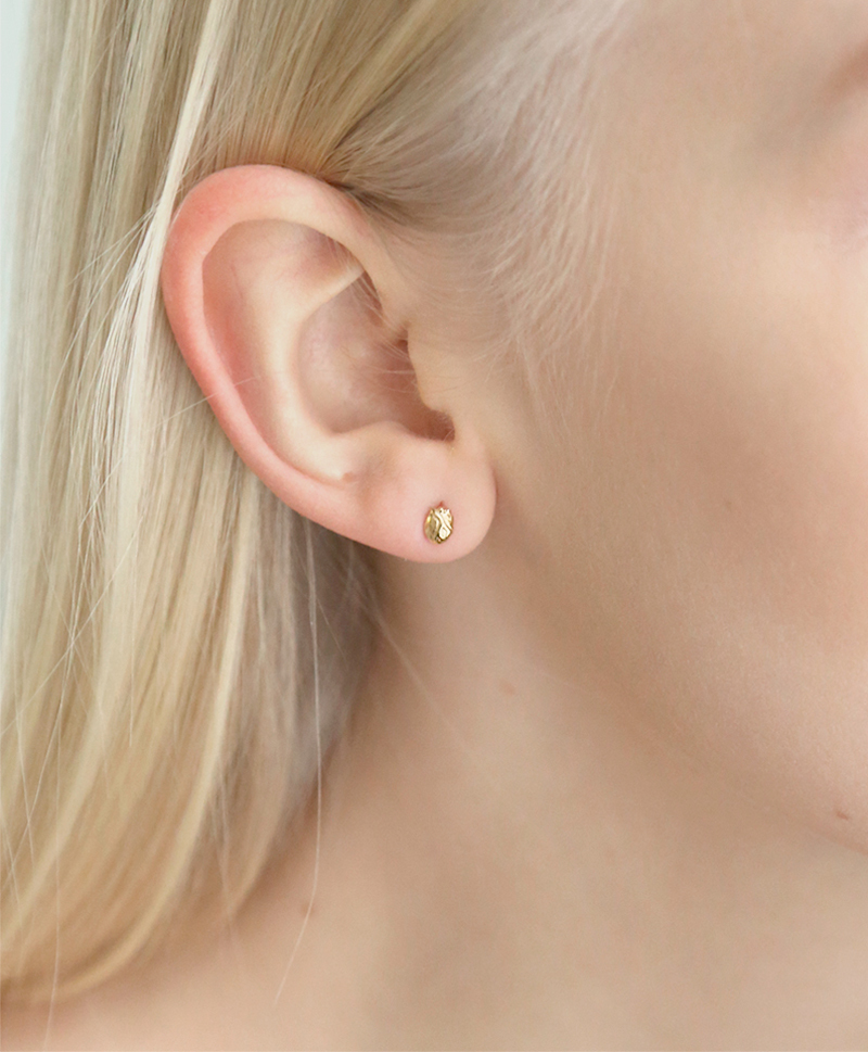 Серьги ANATOMIC HEART SMALL GOLD