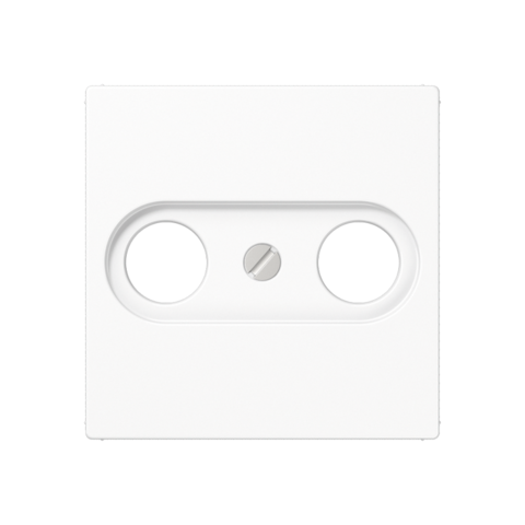 Розетка TV-FM оконечная. Цвет Белый. JUNG A. S2900+A561PLTVWW