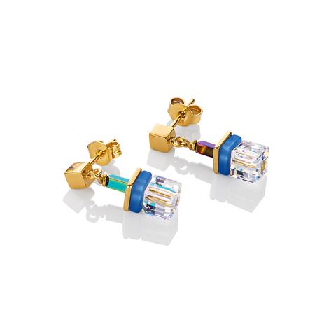 Серьги Coeur de Lion 4798/21-0705 цвет прозрачный, синий, золотой