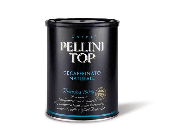 Кофе молотый Pellini Top Decaffeinato, 250 г (Пеллини)