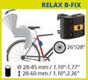Велокресло Bellelli Summer Relax B-Fix Orange, крепление к подседельной трубе