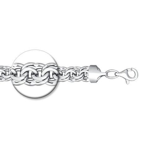 965141204 - Браслет из серебра плетение бисмарк с алмазной гранью