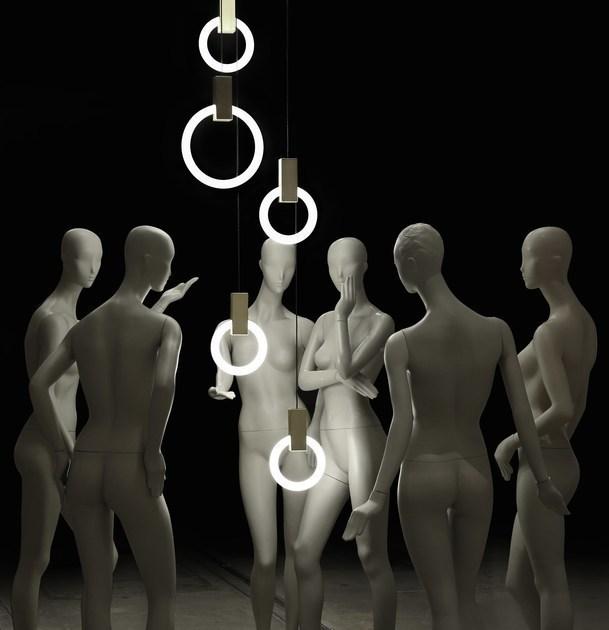 Подвесной светильник Halo by  Matthew McCormick (11 плафонов)