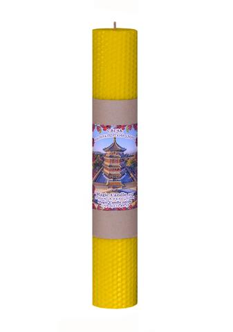 Свеча Императорский дворец желтая 30см