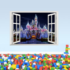 Wall Sticker Wallpaper 3D Art — Princess Castle
