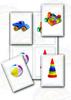 Мои игрушки. 4 карточки, Развивающие пособия на липучках Frenchoponcho (Френчопончо)