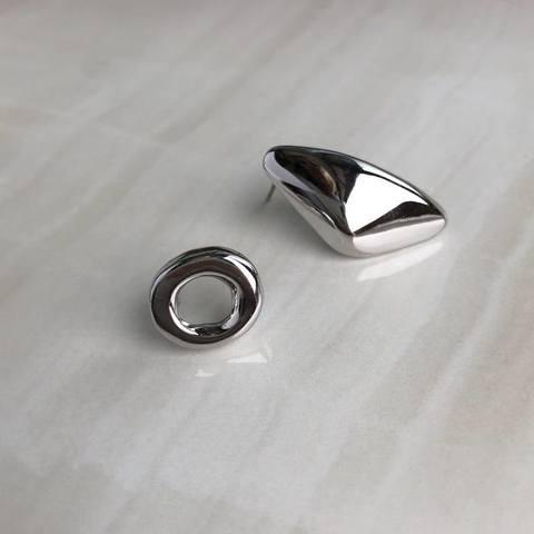 Серьги Инна, серебряный цвет