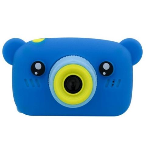 Детский фотоаппарат мишка синий